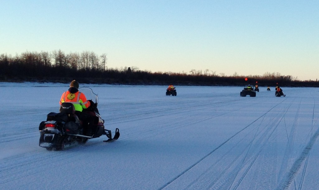 The BSAR crew heads home at the end of a good day on the River