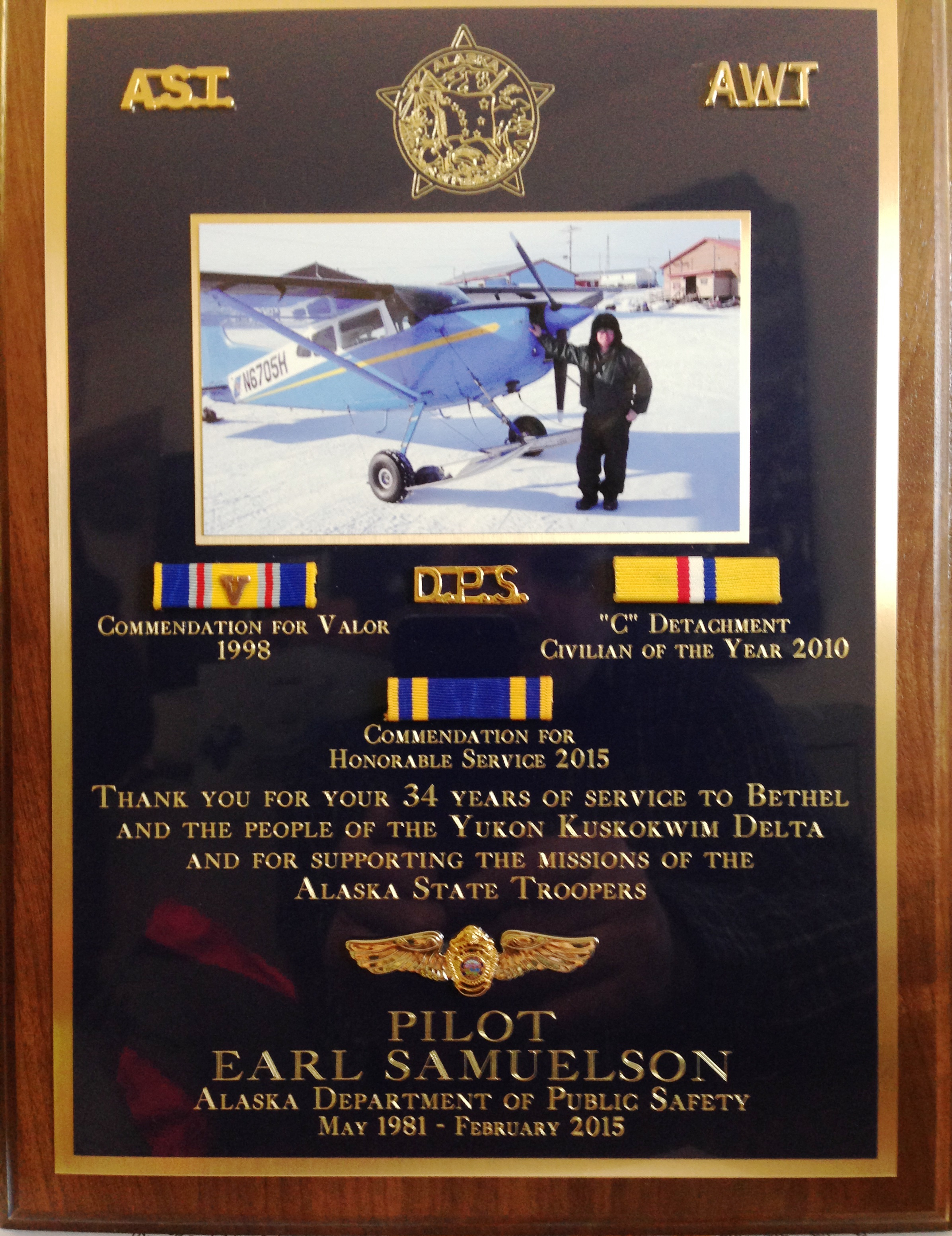 3-7 The Legendary AST Pilot Earl Samuelson, Sr  Honored at